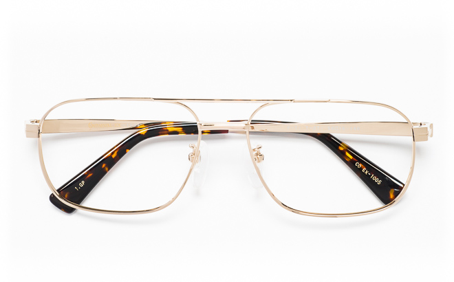 【送料無料】メガネ度付き/度なし CONTINENTAL EX コンチネンタルEX CO EX-1005 1(GP)ゴールド【薄型レンズ追加料金0円】(メガネケース・メガネ拭き付) メガネ/めがね/眼鏡/度付きメガネ/度入り/伊達メガネ