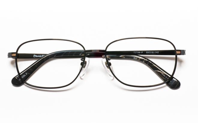 【送料無料】メガネ度付き/度なし DAVID HICKS デービッド ヒックス DH-8235 3BKブラック【薄型レンズ追加料金0円】(メガネケース・メガネ拭き付) メガネ/めがね/眼鏡/度付きメガネ/度入り/伊達メガネ