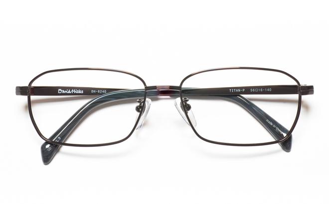 DH-8240 3GRグレー【薄型レンズ追加料金0円】(メガネケース・メガネ拭き付) ヒックス HICKS メガネ/めがね/眼鏡/度付きメガネ/度入り/伊達メガネ DAVID 【送料無料】メガネ度付き/度なし デービッド