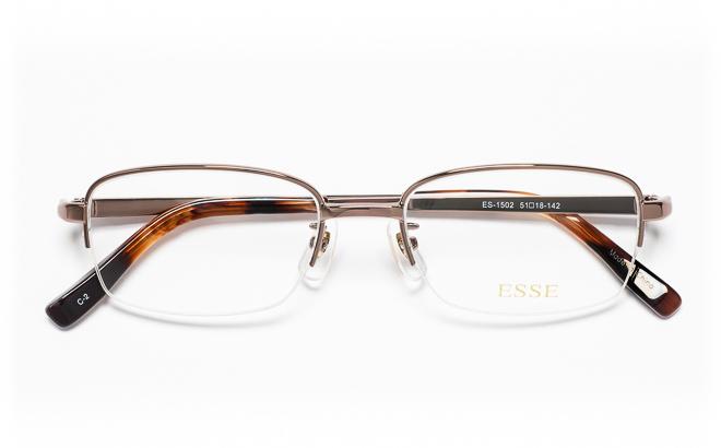 【送料無料】メガネ度付き/度なし ESSEエッセ ES-1502 2(BR)ブラウン【薄型レンズ追加料金0円】(メガネケース・メガネ拭き付) メガネ/めがね/眼鏡/度付きメガネ/度入り/伊達メガネ/眼鏡フレーム