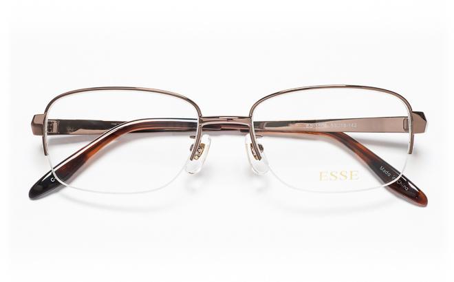 【送料無料】メガネ度付き/度なし ESSEエッセ ES-1504 1(BR)ブラウン【薄型レンズ追加料金0円】(メガネケース・メガネ拭き付) メガネ/めがね/眼鏡/度付きメガネ/度入り/伊達メガネ/眼鏡フレーム