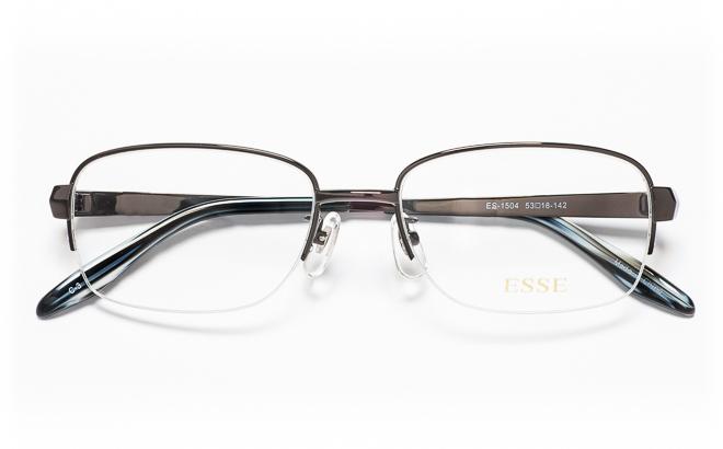 【送料無料】メガネ度付き/度なし ESSEエッセ ES-1504 3(DGRグレー【薄型レンズ追加料金0円】(メガネケース・メガネ拭き付) メガネ/めがね/眼鏡/度付きメガネ/度入り/伊達メガネ/眼鏡フレーム