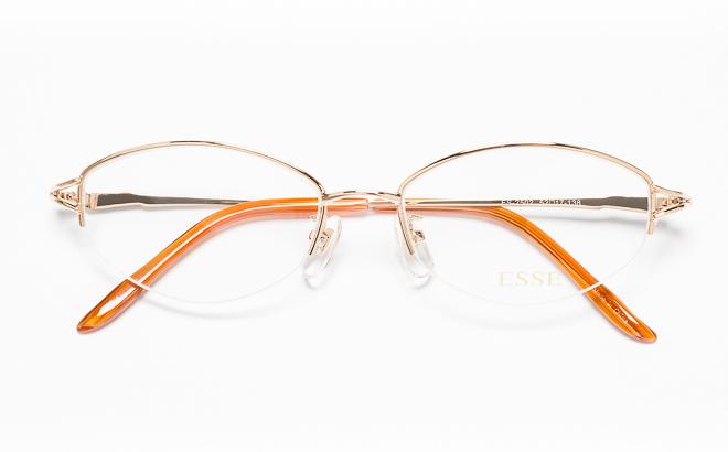 メガネ めがね 眼鏡 度付き 度なし 店頭受取対応商品 送料無料 メガネ度付き 特価 ESSEエッセ 新商品 ES-2502 ゴールド 眼鏡フレーム メガネ拭き付 1 度付きメガネ 伊達メガネ GP メガネケース 薄型レンズ追加料金0円 度入り