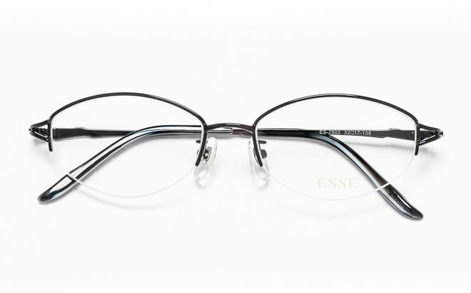 【送料無料】メガネ度付き/度なし ESSEエッセ ES-2502 3(BK)ブラック【薄型レンズ追加料金0円】(メガネケース・メガネ拭き付) メガネ/めがね/眼鏡/度付きメガネ/度入り/伊達メガネ/眼鏡フレーム