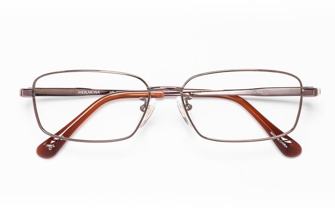 【送料無料】メガネ度付き/度なし Hermosaエルモサ HP-2003 2(BR)ブラウン【薄型レンズ追加料金0円】(メガネケース・メガネ拭き付) メガネ/めがね/眼鏡/度付きメガネ/度入り/伊達メガネ