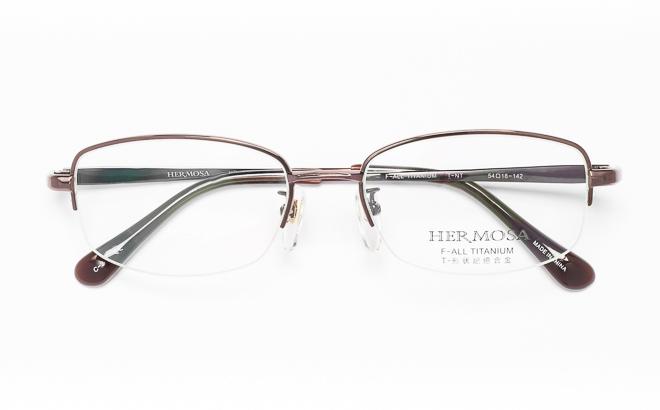 【送料無料】メガネ度付き/度なし Hermosaエルモサ HP-2005 2(BR)ブラウン【薄型レンズ追加料金0円】(メガネケース・メガネ拭き付) メガネ/めがね/眼鏡/度付きメガネ/度入り/伊達メガネ