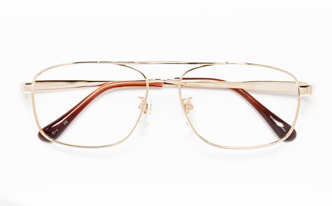 【送料無料】メガネ度付き/度なし Hermosaエルモサ HP-2006 1(GP)ゴールド【薄型レンズ追加料金0円】(メガネケース・メガネ拭き付) メガネ/めがね/眼鏡/度付きメガネ/度入り/伊達メガネ