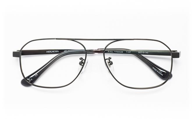 【送料無料】メガネ度付き/度なし Hermosaエルモサ HP-2007 3(DGRグレー【薄型レンズ追加料金0円】(メガネケース・メガネ拭き付) メガネ/めがね/眼鏡/度付きメガネ/度入り/伊達メガネ