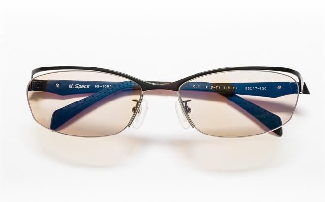【送料無料】メガネ度付き/度なし H. Specs エイチスペックス HS-1001 1BKRDブラック×レッド【薄型レンズ追加料金0円】(メガネケース・メガネ拭き付) メガネ/めがね/眼鏡/度付きメガネ/度入り/伊達メガネ
