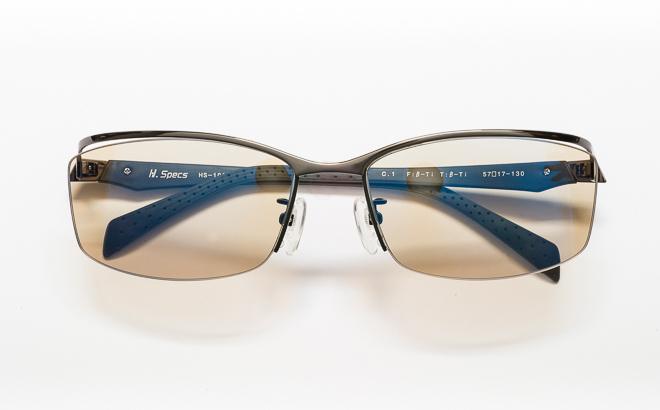 【送料無料】メガネ度付き/度なし H. Specs エイチスペックス HS-1002 1GRBKグレー×ブラック【薄型レンズ追加料金0円】(メガネケース・メガネ拭き付) メガネ/めがね/眼鏡/度付きメガネ/度入り/伊達メガネ
