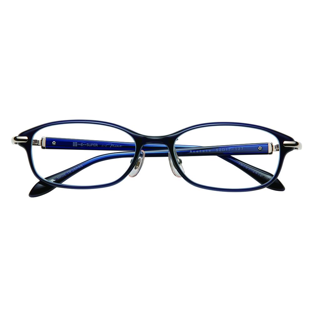 i-mine イマイン IMI01-2412 1ダークブルー レディース/メガネ/めがね/眼鏡/度付きメガネ/度入り/伊達メガネ