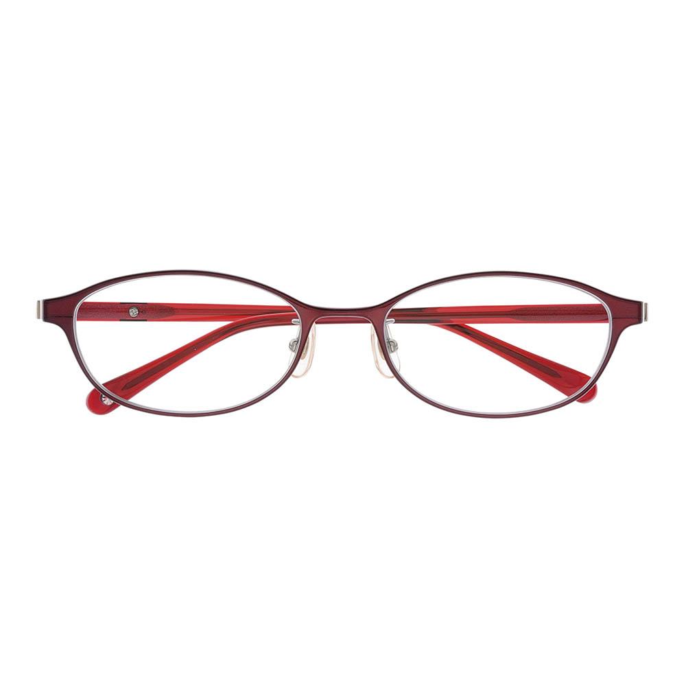 i-mine イマインIMI06-2411(7B24N) 4ダークボルドー レディース/メガネ/めがね/眼鏡/度付きメガネ/度入り/伊達メガネ