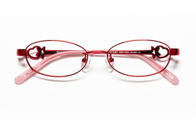 【送料無料】メガネ度付き/度なし JILL STUART NY ジル スチュアート ニューヨーク 04-0001 3RDレッド【薄型レンズ追加料金0円】(メガネケース・メガネ拭き付) メガネ/めがね/眼鏡 【子供用/小さいサイズ】