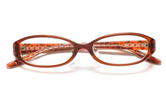【送料無料】メガネ度付き/度なし JILL STUART NY ジル スチュアート ニューヨーク 04-0005 1BRブラウン【薄型レンズ追加料金0円】(メガネケース・メガネ拭き付) メガネ/めがね/眼鏡 【子供用/小さいサイズ】
