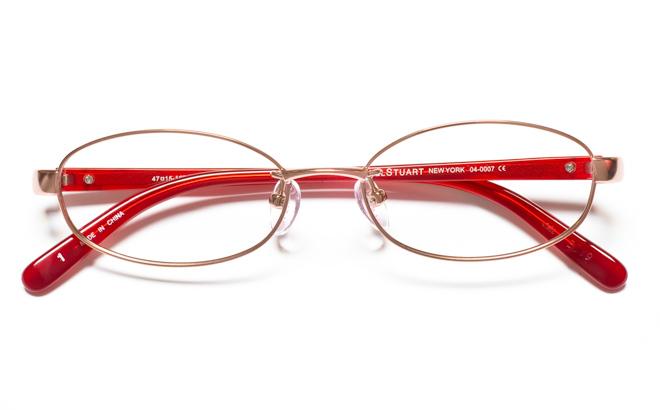 【送料無料】メガネ度付き/度なし JILL STUART NY ジル スチュアート ニューヨーク 04-0007 1BRブラウン【薄型レンズ追加料金0円】(メガネケース・メガネ拭き付) メガネ/めがね/眼鏡 【子供用/小さいサイズ】