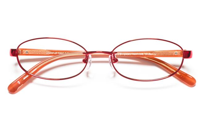 【送料無料】メガネ度付き/度なし JILL STUART NY ジル スチュアート ニューヨーク 04-0007 3RDレッド【薄型レンズ追加料金0円】(メガネケース・メガネ拭き付) メガネ/めがね/眼鏡 【子供用/小さいサイズ】