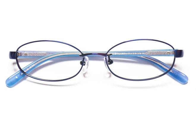 【送料無料】メガネ度付き/度なし JILL STUART NY ジル スチュアート ニューヨーク 04-0007 4BLブルー【薄型レンズ追加料金0円】(メガネケース・メガネ拭き付) メガネ/めがね/眼鏡 【子供用/小さいサイズ】