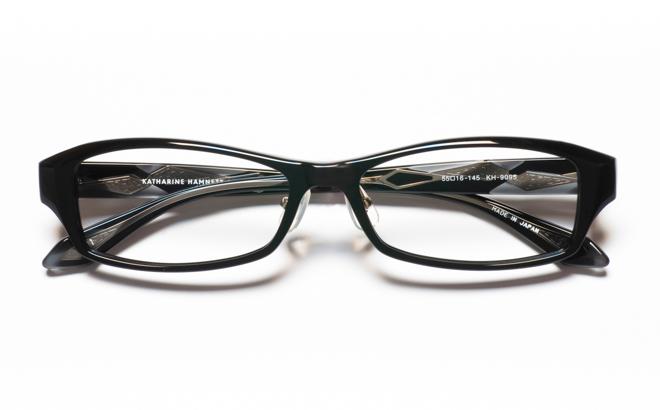 【送料無料】メガネ度付き/度なし KATHARINE HAMNETT キャサリン ハムネット KH9095 1BKブラック【薄型レンズ追加料金0円】(メガネケース・メガネ拭き付) メガネ/めがね/眼鏡/度付きメガネ/度入り/伊達メガネ/セルフレーム/セル