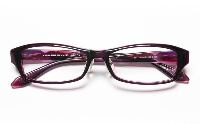【送料無料】メガネ度付き/度なし KATHARINE HAMNETT キャサリン ハムネット KH9095 3PUパープル【薄型レンズ追加料金0円】(メガネケース・メガネ拭き付) メガネ/めがね/眼鏡/度付きメガネ/度入り/伊達メガネ/セルフレーム/セル