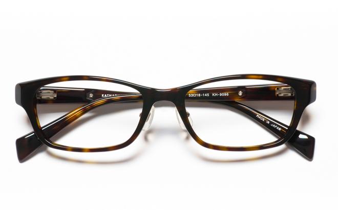 【送料無料】メガネ度付き/度なし KATHARINE HAMNETT キャサリン ハムネット KH9096 2BRブラウン【薄型レンズ追加料金0円】(メガネケース・メガネ拭き付) メガネ/めがね/眼鏡/度付きメガネ/度入り/伊達メガネ/セルフレーム/セル
