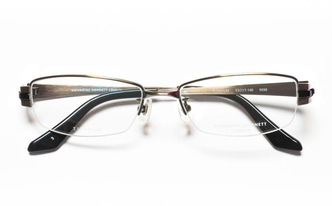 【送料無料】メガネ度付き/度なし KATHARINE HAMNETT キャサリン ハムネット KH9098 3GRグレー【薄型レンズ追加料金0円】(メガネケース・メガネ拭き付) メガネ/めがね/眼鏡/度付きメガネ/度入り/伊達メガネ/ナイロール/眼鏡フレーム 【10P13Dec14】