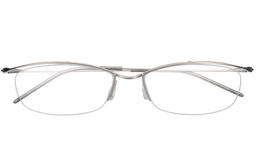 【送料無料】メガネ度付き/度なし nude ヌード NUD-1002 1SLシルバー【薄型レンズ追加料金0円】(メガネケース・メガネ拭き付) メガネ/めがね/眼鏡/度付きメガネ/度入り/伊達メガネ