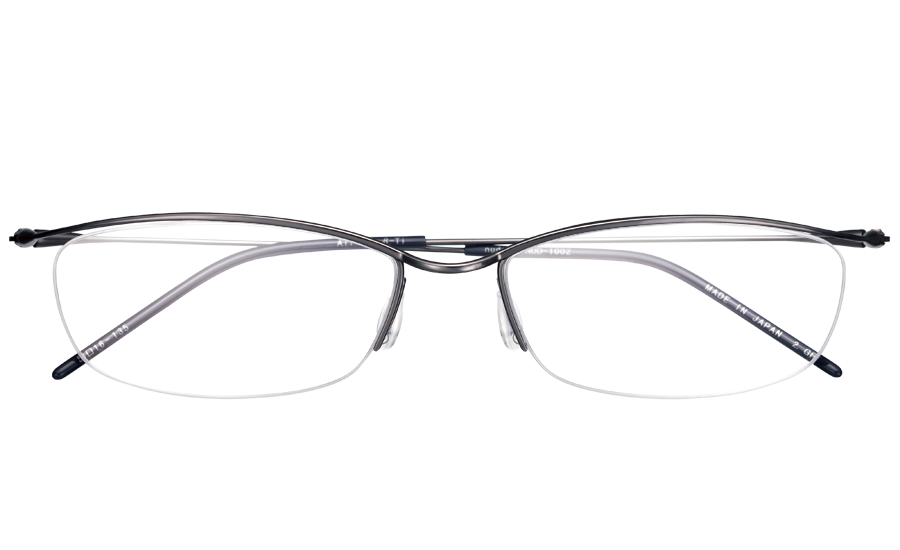 【送料無料】メガネ度付き/度なし nude ヌード NUD-1002 2GRグレー【薄型レンズ追加料金0円】(メガネケース・メガネ拭き付) メガネ/めがね/眼鏡/度付きメガネ/度入り/伊達メガネ/ナイロール