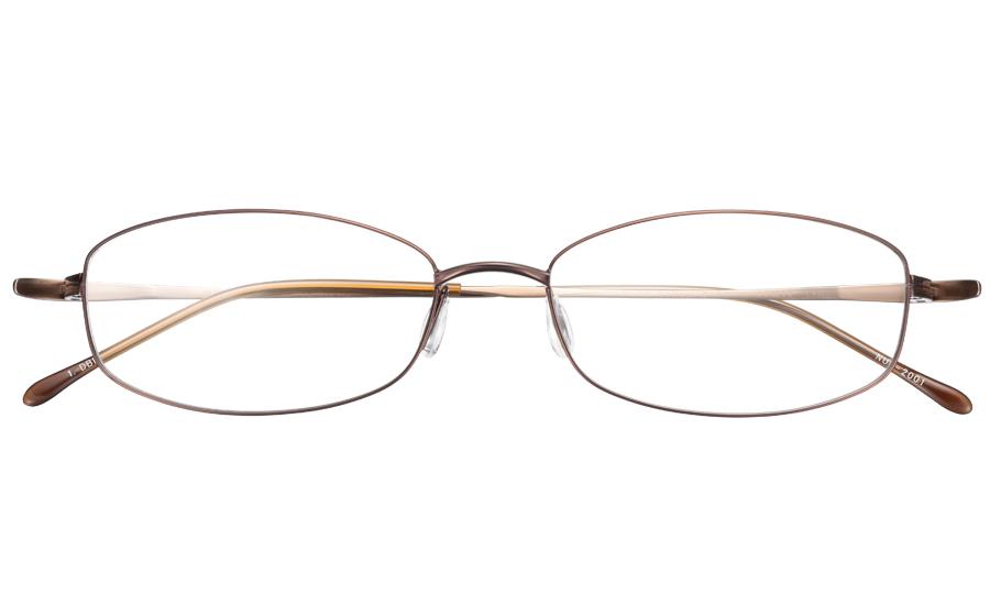 【送料無料】メガネ度付き/度なし nude ヌード NUD-2001 1DBRダークブラウン【薄型レンズ追加料金0円】(メガネケース・メガネ拭き付) メガネ/めがね/眼鏡/度付きメガネ/度入り/伊達メガネ