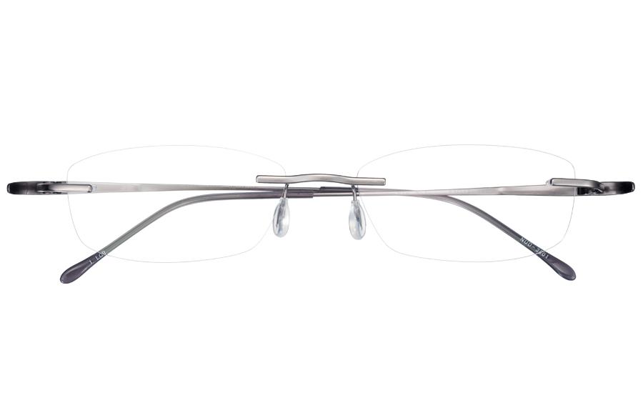 【送料無料】メガネ度付き/度なし nude ヌード NUD-3001 1LGRライトグレー【薄型レンズ追加料金0円】(メガネケース・メガネ拭き付) メガネ/めがね/眼鏡/度付きメガネ/度入り/伊達メガネ