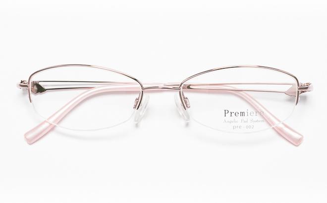 【送料無料】メガネ度付き/度なし Premiereプルミエール PRE-002 1(PK)ピンク【薄型レンズ追加料金0円】(メガネケース・メガネ拭き付) メガネ/めがね/眼鏡/度付きメガネ/度入り/伊達メガネ