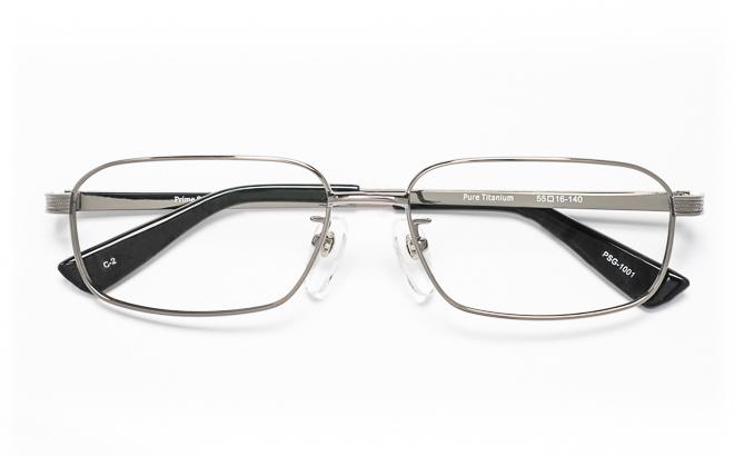 【送料無料】メガネ度付き/度なし Prime Stageプライムステージ PSG-1001 2(GR)グレー【薄型レンズ追加料金0円】(メガネケース・メガネ拭き付) メガネ/めがね/眼鏡/度付きメガネ/度入り/伊達メガネ