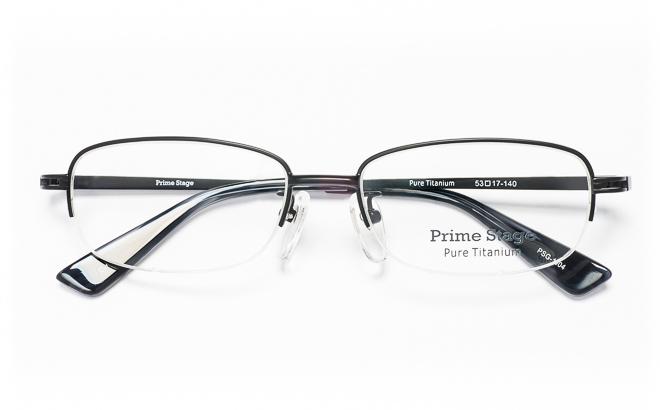 【送料無料】メガネ度付き/度なし Prime Stageプライムステージ PSG-1004 1(BK)ブラック【薄型レンズ追加料金0円】(メガネケース・メガネ拭き付) メガネ/めがね/眼鏡/度付きメガネ/度入り/伊達メガネ/ナイロール