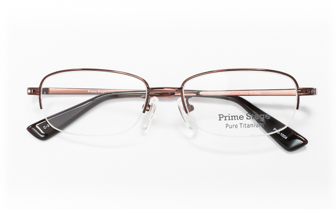 【送料無料】メガネ度付き/度なし Prime Stageプライムステージ PSG-1004 3(BR)ブラウン【薄型レンズ追加料金0円】(メガネケース・メガネ拭き付) メガネ/めがね/眼鏡/度付きメガネ/度入り/伊達メガネ