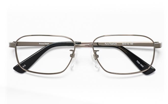 【送料無料】メガネ度付き/度なし Prime Stageプライムステージ PSG-1005 2(GR)グレー【薄型レンズ追加料金0円】(メガネケース・メガネ拭き付) メガネ/めがね/眼鏡/度付きメガネ/度入り/伊達メガネ