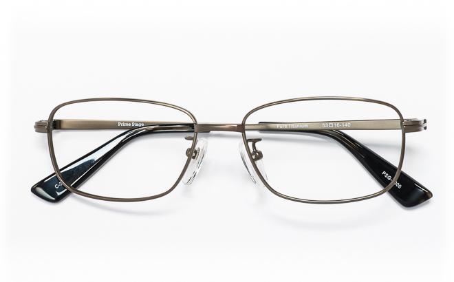 【送料無料】メガネ度付き/度なし Prime Stageプライムステージ PSG-1006 3(GR)グレー【薄型レンズ追加料金0円】(メガネケース・メガネ拭き付) メガネ/めがね/眼鏡/度付きメガネ/度入り/伊達メガネ
