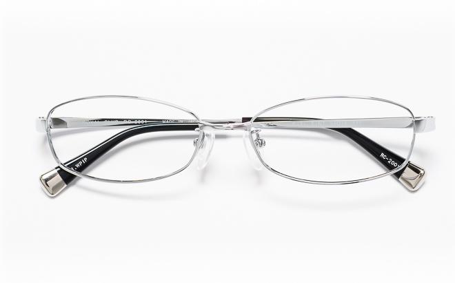 【送料無料】メガネ度付き/度なし ROYAL CLUB ロイヤルクラブ RC-2001 1(WP)シルバー【薄型レンズ追加料金0円】(メガネケース・メガネ拭き付) メガネ/めがね/眼鏡/度付きメガネ/度入り/伊達メガネ