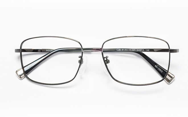 【送料無料】メガネ度付き/度なし ROYAL CLUB ロイヤルクラブ RC-2003 1(GR)グレー【薄型レンズ追加料金0円】(メガネケース・メガネ拭き付) メガネ/めがね/眼鏡