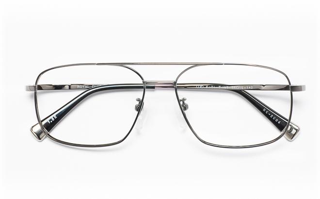【送料無料】メガネ度付き/度なし ROYAL CLUB ロイヤルクラブ RC-2004 1(GR)グレー【薄型レンズ追加料金0円】(メガネケース・メガネ拭き付) メガネ/めがね/眼鏡/度付きメガネ/度入り/伊達メガネ