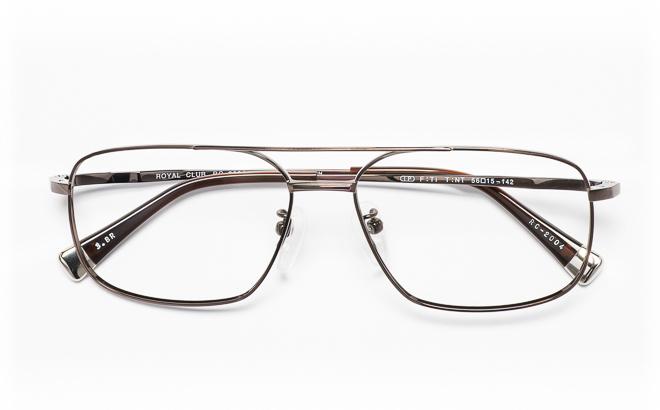 【送料無料】メガネ度付き/度なし ROYAL CLUB ロイヤルクラブ RC-2004 3(BR)ブラウン【薄型レンズ追加料金0円】(メガネケース・メガネ拭き付) メガネ/めがね/眼鏡/度付きメガネ/度入り/伊達メガネ