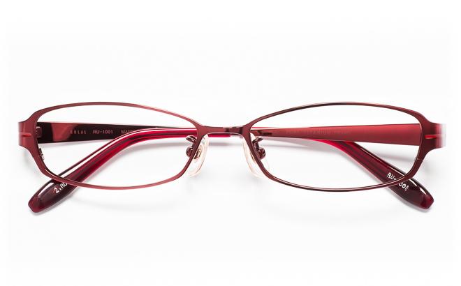 【送料無料】メガネ度付き/度なし RULAL ルーラル RU-1001 2(RD)レッド【薄型レンズ追加料金0円】(メガネケース・メガネ拭き付) メガネ/めがね/眼鏡/度付きメガネ/度入り/伊達メガネ