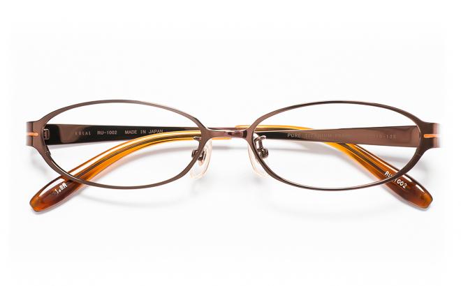 【送料無料】メガネ度付き/度なし RULAL ルーラル RU-1002 1(BR)ブラウン【薄型レンズ追加料金0円】(メガネケース・メガネ拭き付) メガネ/めがね/眼鏡/度付きメガネ/度入り/伊達メガネ