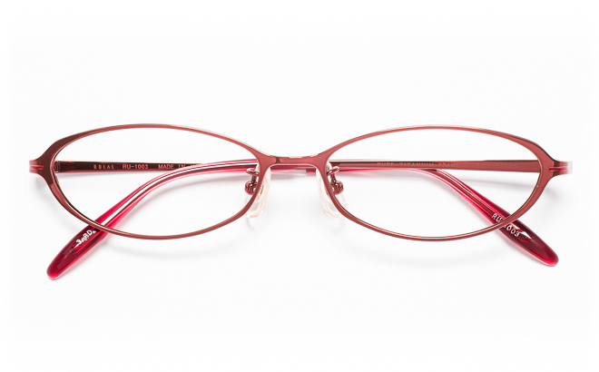 【送料無料】メガネ度付き/度なし RULAL ルーラル RU-1003 3(RD)レッド【薄型レンズ追加料金0円】(メガネケース・メガネ拭き付) メガネ/めがね/眼鏡/度付きメガネ/度入り/伊達メガネ