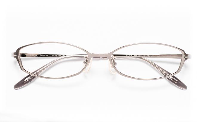 【送料無料】メガネ度付き/度なし RULAL ルーラル RU-1004 2(GR)グレー【薄型レンズ追加料金0円】(メガネケース・メガネ拭き付) メガネ/めがね/眼鏡/度付きメガネ/度入り/伊達メガネ