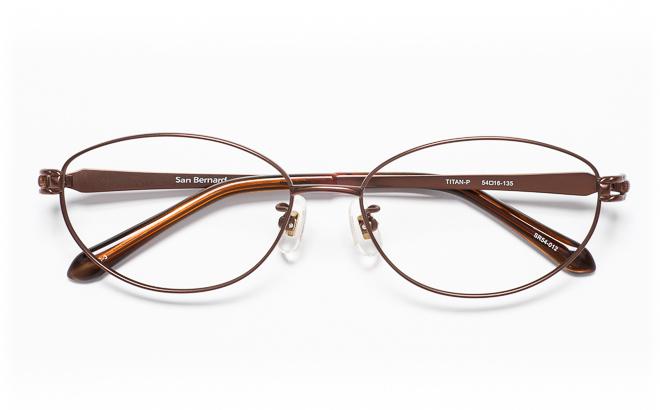 【送料無料】メガネ度付き/度なし San Bernard サンベルナール SR54-012 3(BR)ブラウン【薄型レンズ追加料金0円】(メガネケース・メガネ拭き付) メガネ/めがね/眼鏡/度付きメガネ/度入り/伊達メガネ/眼鏡フレーム