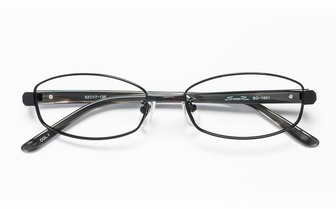 【送料無料】メガネ度付き/度なし SOHOSソーホーズ SO-1001 1(BK)ブラック【薄型レンズ追加料金0円】(メガネケース・メガネ拭き付) メガネ/めがね/眼鏡/度付きメガネ/度入り/伊達メガネ/眼鏡フレーム