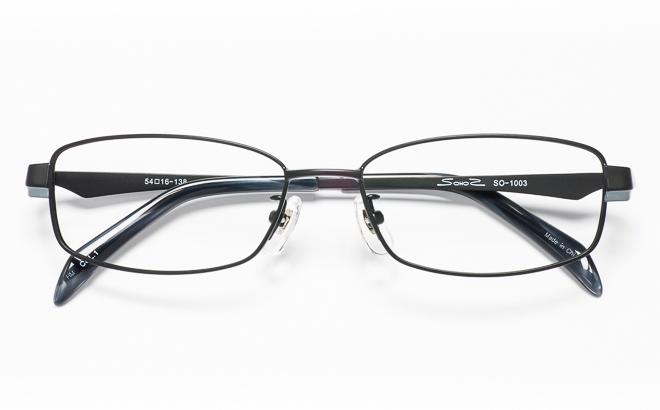 【送料無料】メガネ度付き/度なし SOHOSソーホーズ SO-1003 1(BK)ブラック【薄型レンズ追加料金0円】(メガネケース・メガネ拭き付) メガネ/めがね/眼鏡/度付きメガネ/度入り/伊達メガネ/眼鏡フレーム