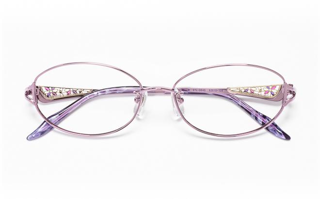 【送料無料】メガネ度付き/度なし Sylphleurシルフルール SYL-004S 2(PU)パープル【薄型レンズ追加料金0円】(メガネケース・メガネ拭き付) メガネ/めがね/眼鏡/度付きメガネ/度入り/伊達メガネ/眼鏡フレーム