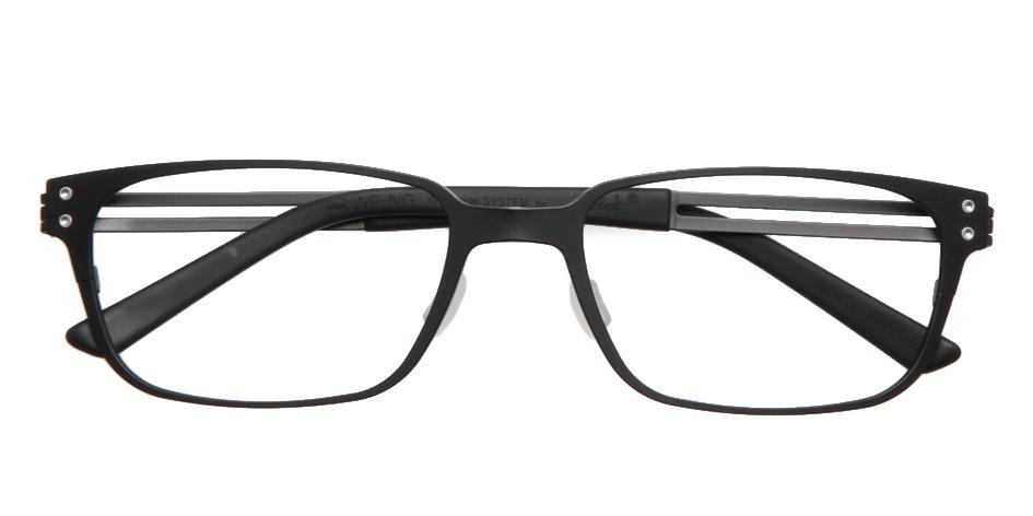 【送料無料】メガネ度付き/度なし WE-NG T133 01MBK 54【薄型レンズ追加料金0円】(メガネケース・メガネ拭き付) メガネ/めがね/眼鏡/度付きメガネ/度入り/伊達メガネ