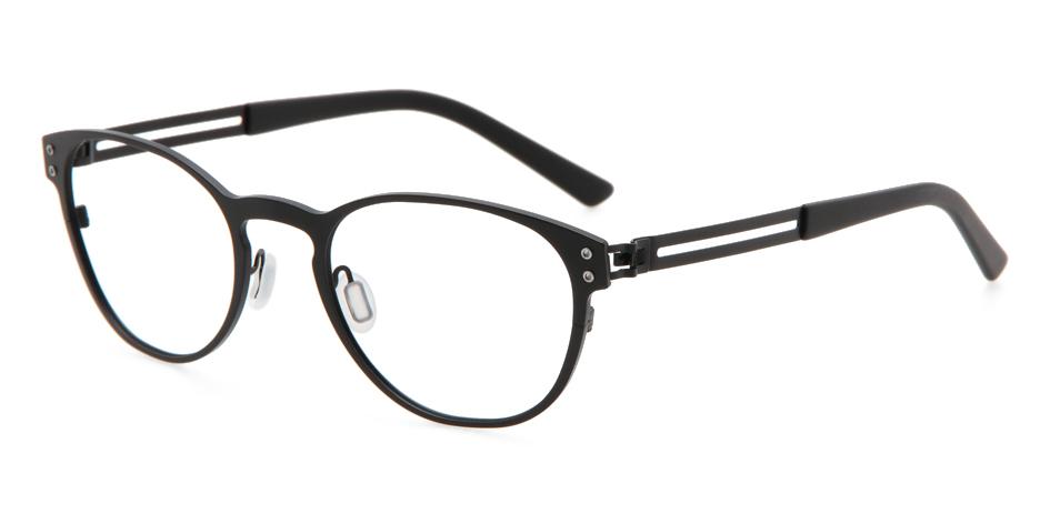 【送料無料】メガネ度付き/度なし WE-NG T136 01MBK 50【薄型レンズ追加料金0円】(メガネケース・メガネ拭き付) メガネ/めがね/眼鏡/度付きメガネ/度入り/伊達メガネ