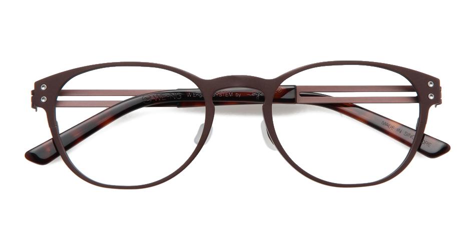 【送料無料】メガネ度付き/度なし WE-NG T136 11MBR 50 薄型レンズ追加料金0円】(メガネケース・メガネ拭き付) メガネ/めがね/眼鏡/度付きメガネ/度入り/伊達メガネ